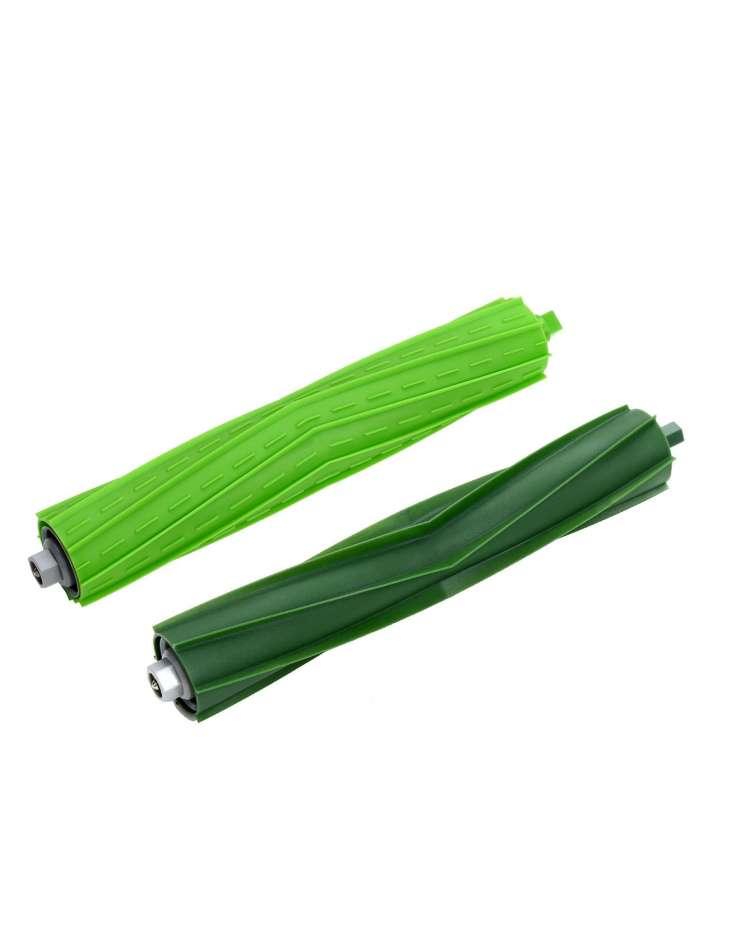 Wałki / szczotki gumowe zielone - komplet - iRobot Roomba E oraz I 2 szt.